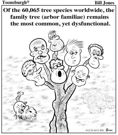 Toonsburgh® cartoon of a family tree